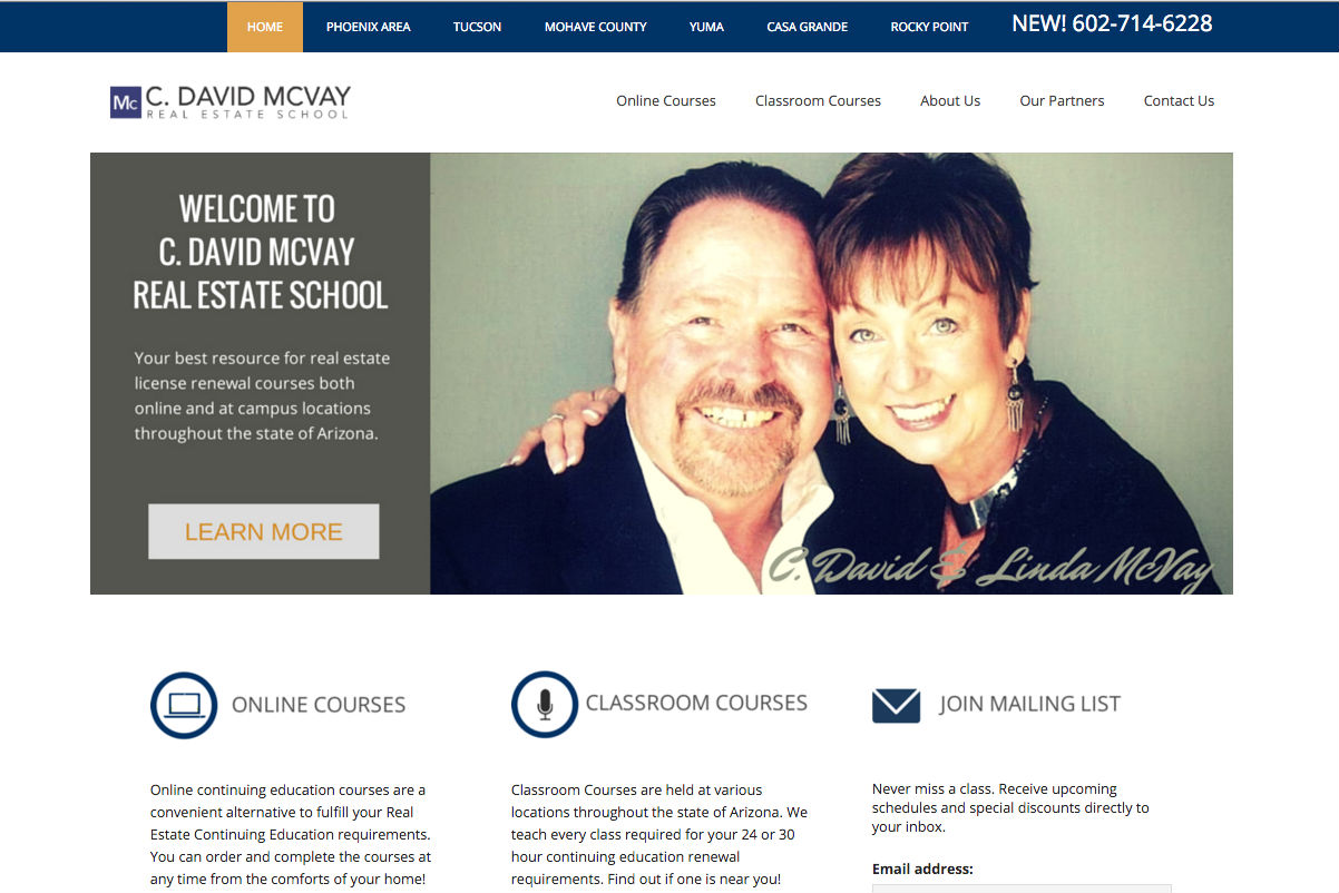 C. David McVay School Website