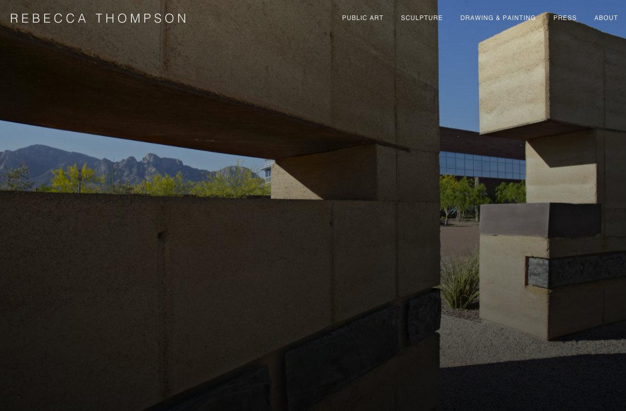 Rebecca Thompson Sculpture Website